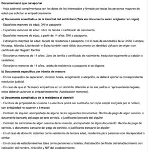 certificado de empadronamiento Badalona